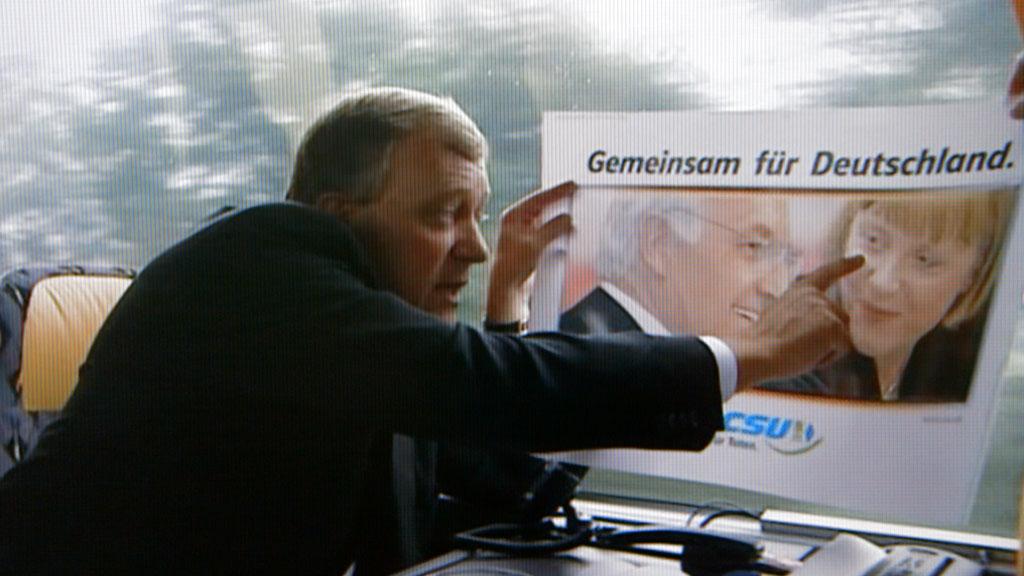 Kanzlermacher Michael Spreng bewertet ein Wahlkampfplakat