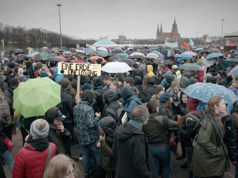 fridays for future Demo in München - eine Erde eine Lösung